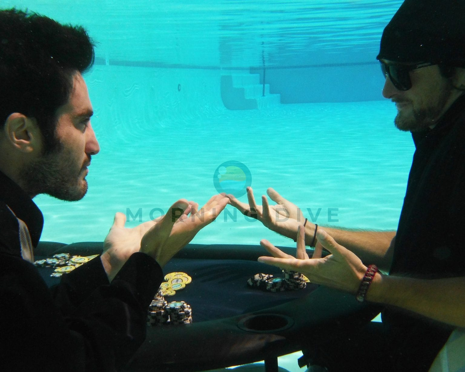 underwater photography poker game